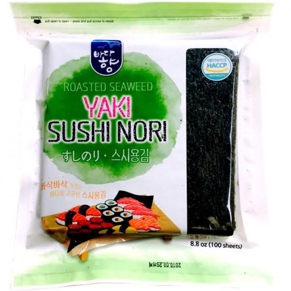 Lá rong biển làm cơm cuộn sushi kimpap